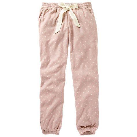 Buy Fat Face Moon Cuffed Pyjama Bottoms, Soft Rose/Multi Online at johnlewis.com