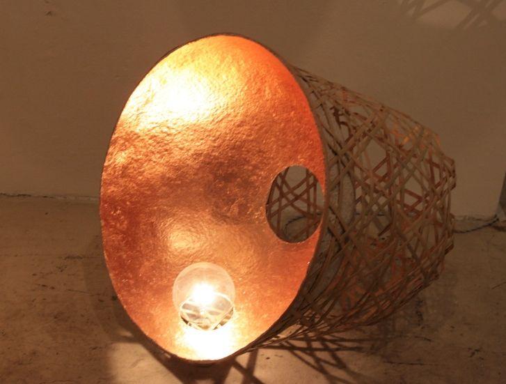 Trend :: Milano 2014 - Tappa da Rossana Orlandi jo nagasaka bamboo floor lamp #milandesignweek2014 #fuorisalone