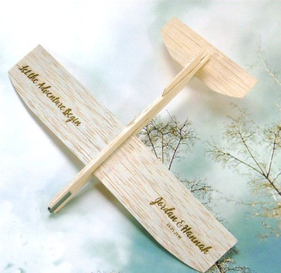 Personalized Airplane Wedding Favor  Custom Laser by ItIsInTheName