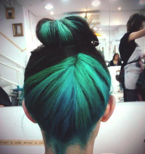 teal hair highlights ideas