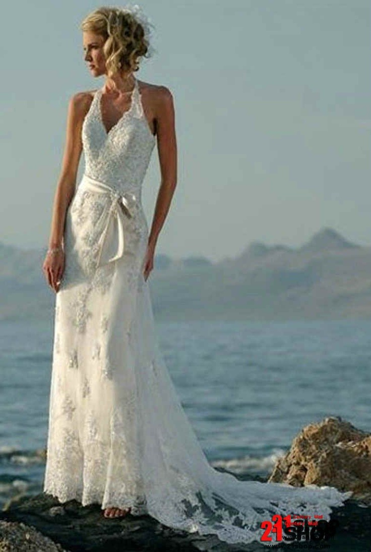 31 best Perfect Beach Wedding Gowns images on Pinterest | Bridal ...