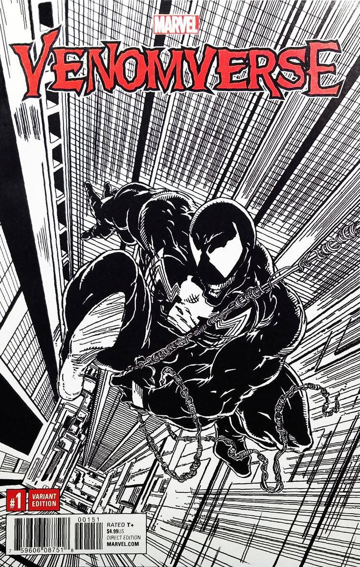 """Venomverse (2017) #1 Todd McFarlane """"Remastered"""" Sketch Cover Variant. Click the pic and find out more..."""