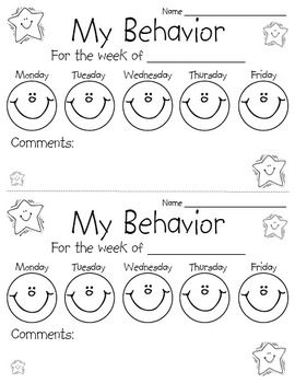 This simple behavior chart is an easy way to keep families informed and hold…