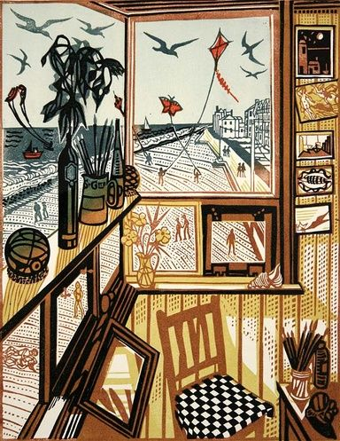 Kites II Spring by Richard Bawden