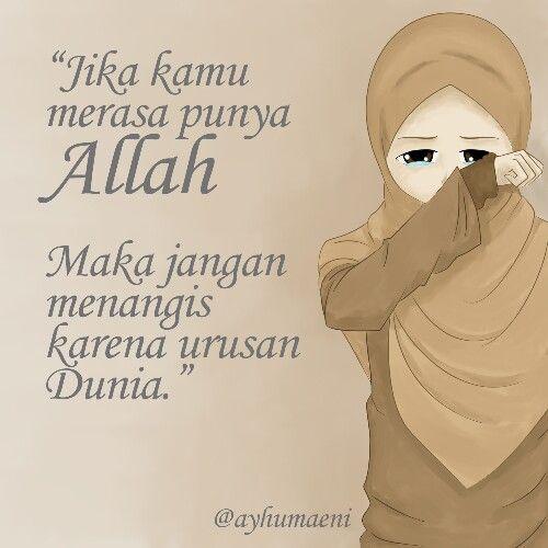 Hapus air matamu :)