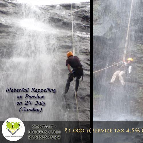 Waterfall Rappelling At Panshet Book Now - http://bit.ly/2apfNDp