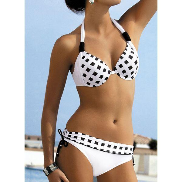 Polyester Halter Bikinis Swimwear (30015411859) #trends #fashions #moda #women #…