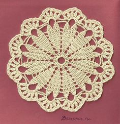Los diagramas de los círculos de crochet