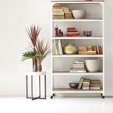 Whitewashed Wood + Metal Shelves #westelm