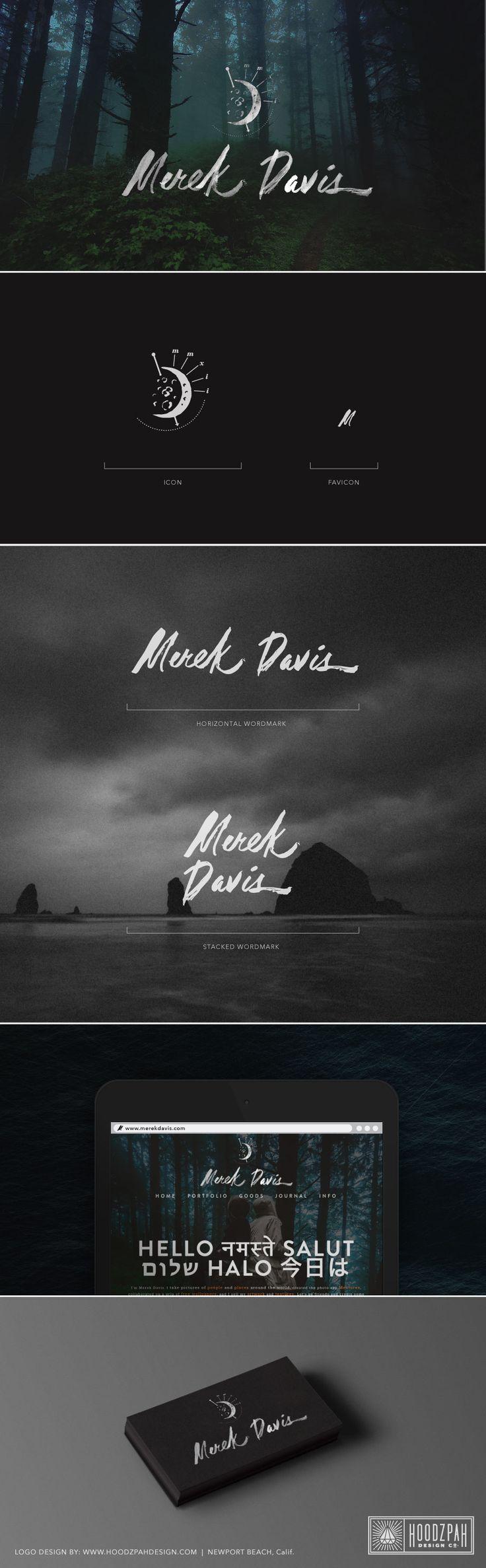 Merek Davis logo design by Amy Hood of Hoodzpah Design Co