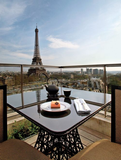 View of Paris from the Shangri-La