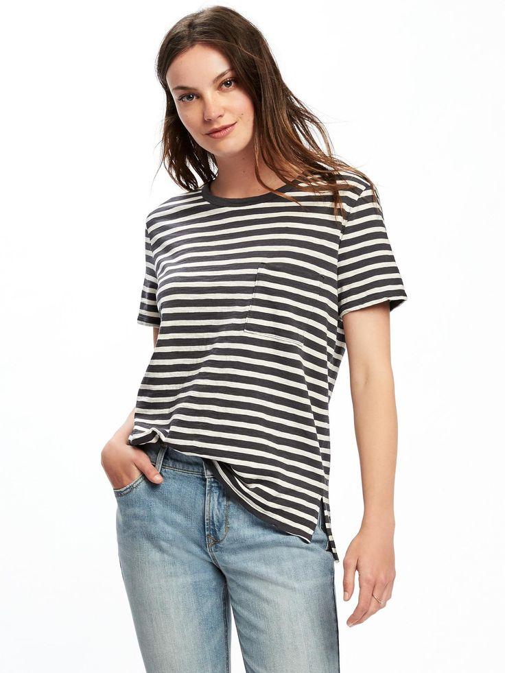 Boyfriend Slub-Knit Pocket Tee for Women | Old Navy