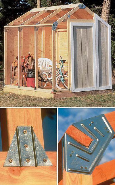 No Angles to Cut! This Fast Framer Universal Storage Shed Framing Kit's unique galvanized steel angles and base plates make erecting a building fast and easy! Perfect for constructing a storage shed, tool shed, or mini-barn. Kit includes 24 steel angles,