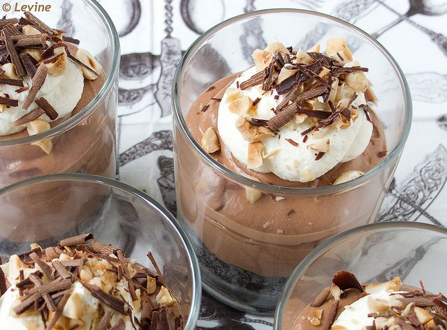 Chocolademousse met MonChou / Chocolate mousse with cream cheese