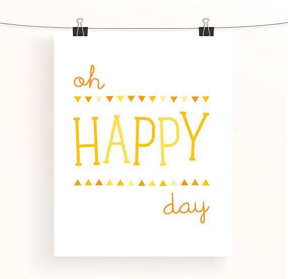 oh happy day yellow nursery print bunting triangle by madebyaiza