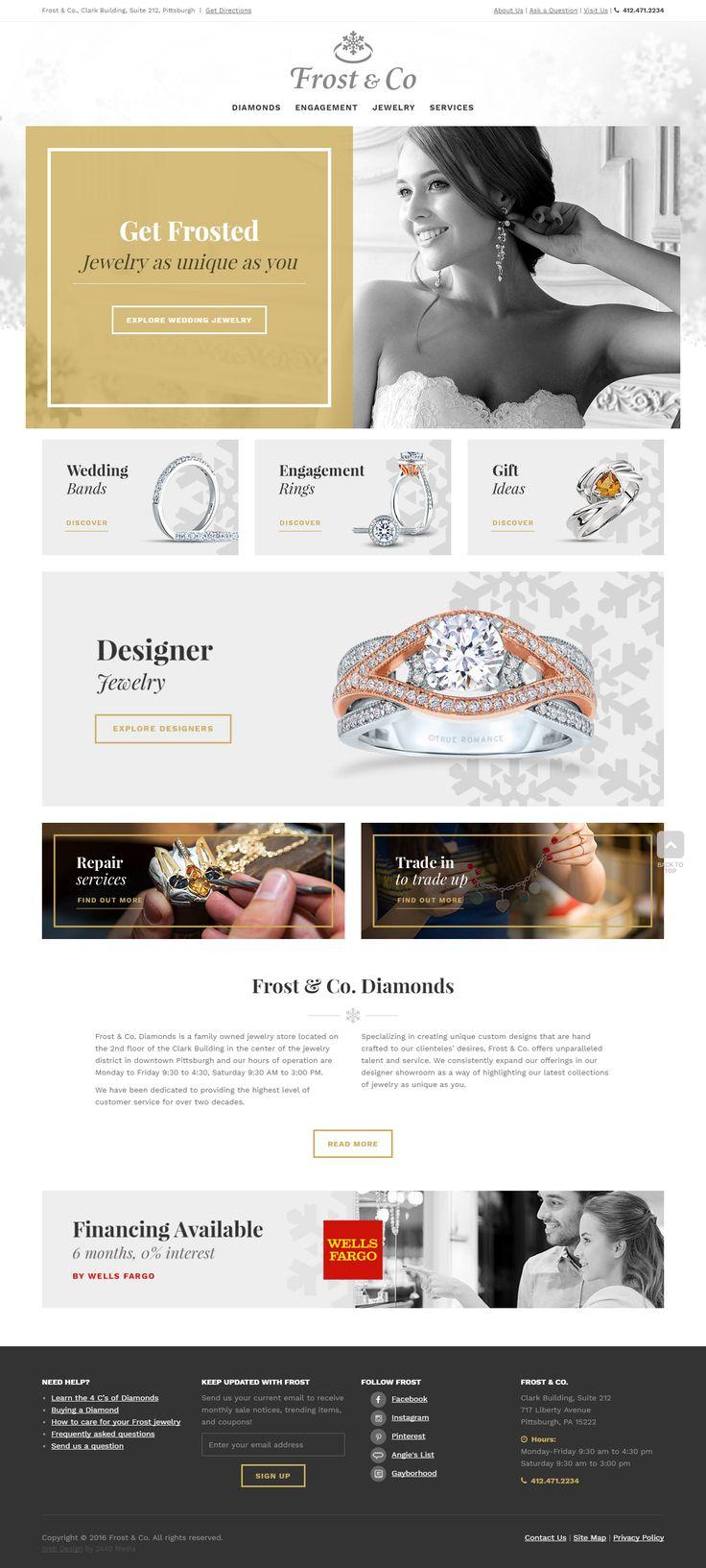 Frost Diamonds - Custom Website Design http://www.frostdiamonds.com/