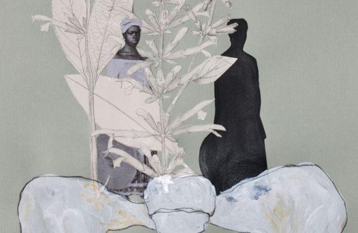 Detalhe de As filhas de Eva, desenho da série Assentamentos – Adão e Eva no paraíso brasileiro (2014), de Rosana Paulino (Foto: Divulgação)