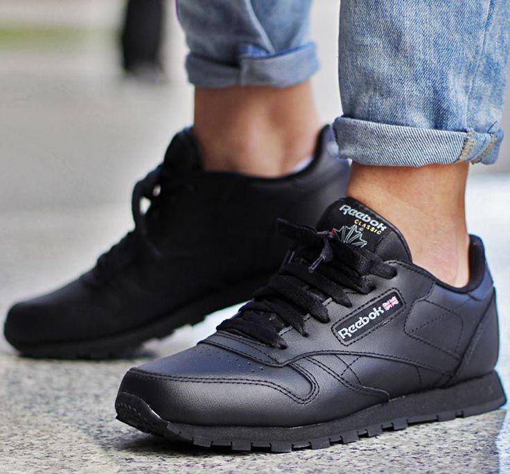 Leather 50149 Reebok Damen Buty Schuhe Sportlich Classic Czarne CtsrhQdxB