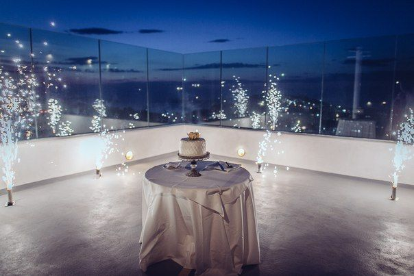 Panorama terrace offers a great view of Santorini.
