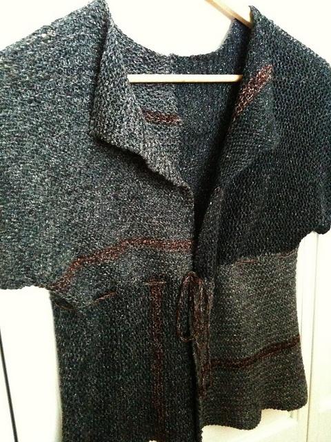 Tsumugi Vest pattern by Setsuko Torii, Ralvelry