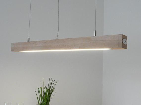 Lampe Suspendue Led 80 Cm Lampe En Bois De Lampe De Hetre En Bois De Lampe De Hetre Lamp Pendant Lamp Lights