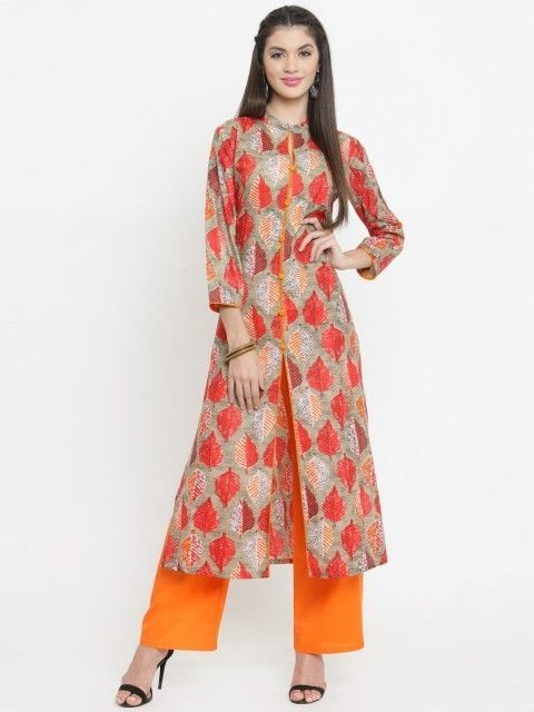 d0767f7bda Women indian kurta kurti Long shrug Dress top tees bottom Floral gown  new-nk215 #Handmade #kurta #casualpartywear