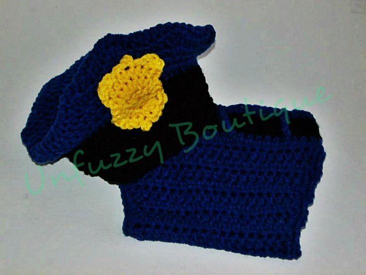 Free Crochet Pattern. Busting Stitches: Unfuzzys Police Set