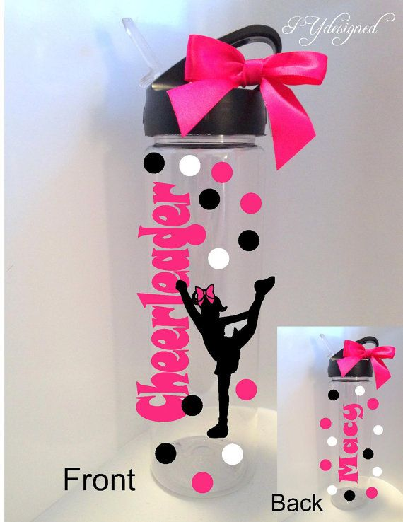 Hey, I found this really awesome Etsy listing at https://www.etsy.com/listing/198719409/cheerleader-water-bottle-personalized
