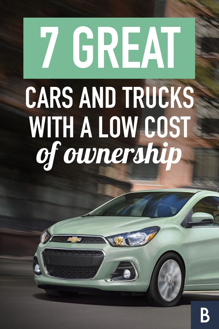 7 Great Cars and Trucks With a Low Cost of Ownership -- Buyers look at the sticker price. Here's another cost to weigh before choosing a car.  Photo courtesy: Chevrolet