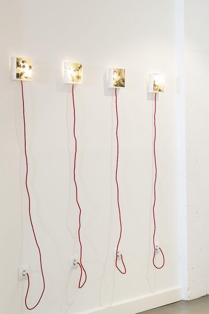 """Instalación """"Bulbbox"""" para el hotel Siete Islas - Madrid Proyecto: Kikekeller"""