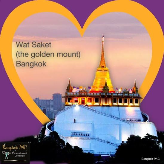 The Golden Mount (Wat Saket), a man made mountain, you'll know it's special when you see and visit. Journey via the Saen Saep canal and localise