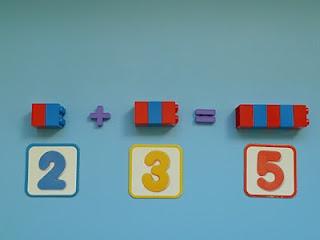 Piezas de Lego para hacer sumas!