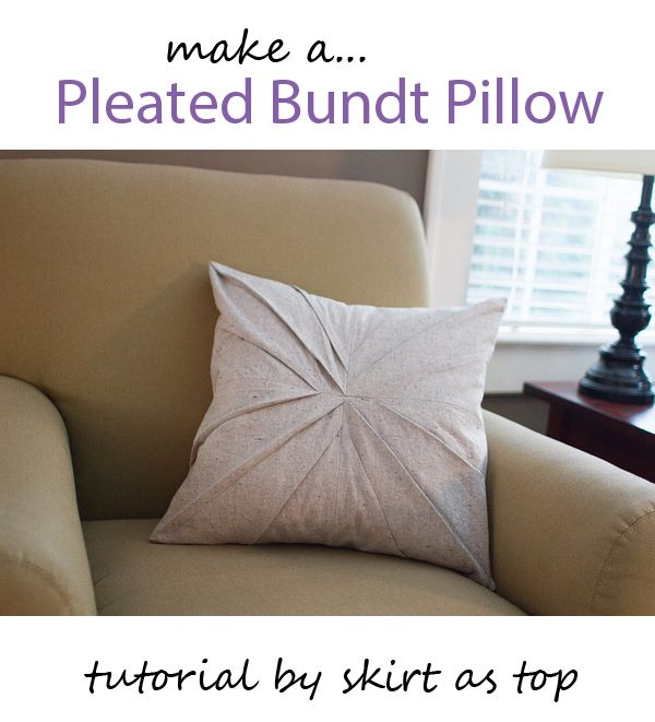 A new 'twist' on a classic throw pillow from Skirt as Top!   Go To Sew