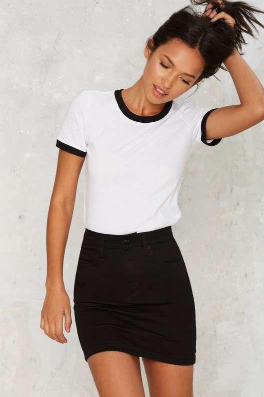 What To Wear With Black Denim Skirt | Jill Dress