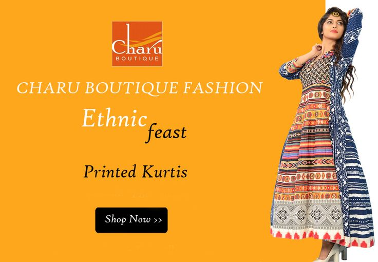 #Beautiful #printedkurtis are always in trends. Shop Now #longKurtis #EthnicWear at #CharuBoutique #Nagpur #summercollection #kurtis #boutique #shoponline #onlineshopping #newarrivals