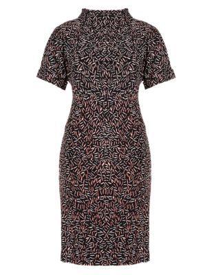Matchstick Print Tunic Dress