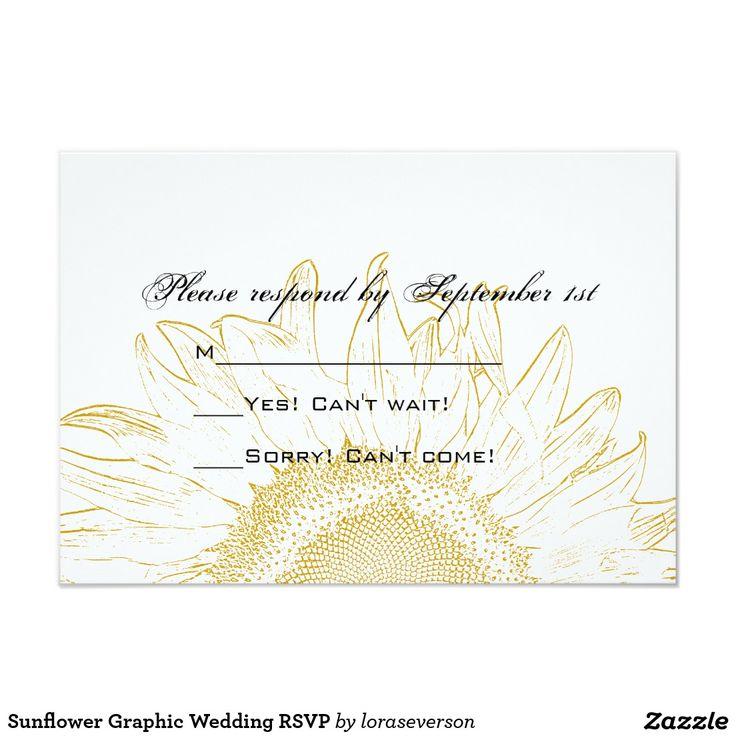 The 859 best *Sunflower Wedding Invitations images on Pinterest ...