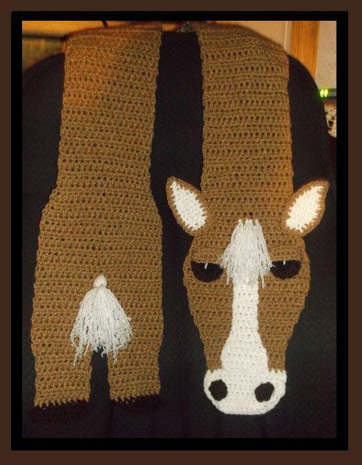 Crochet Horse Scarf Crochet Clothing / Scarves / Neckwear Pinterest Kni...