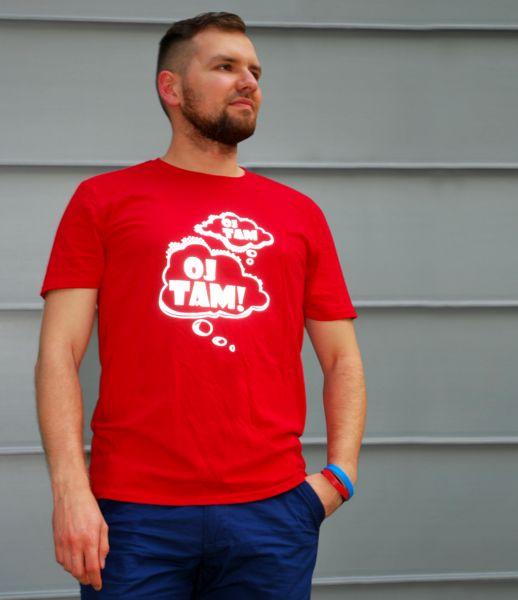 """odblaskowy t- shirt """"oj tam oj tam"""" - Odblaskomat - Koszulki z aplikacją"""