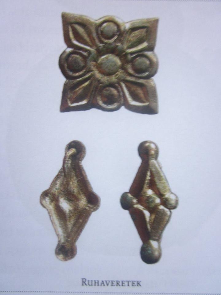 womens neck shirt decorative gilt silver from Balatonújlak- Erdő dűlő