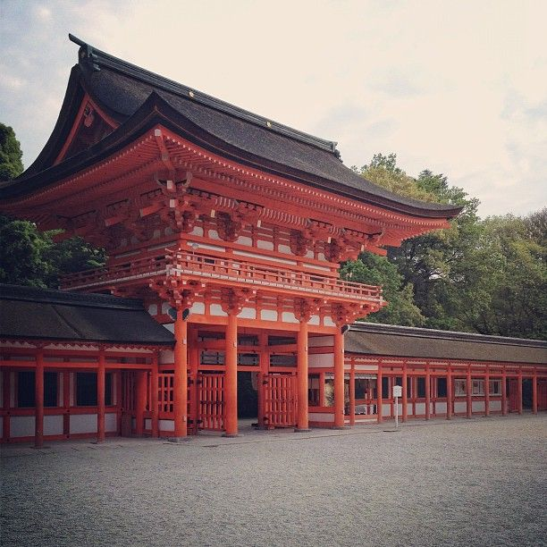 World Heritage, Shimogamo Shrine's gate. #Kyoto #shrine #architecture