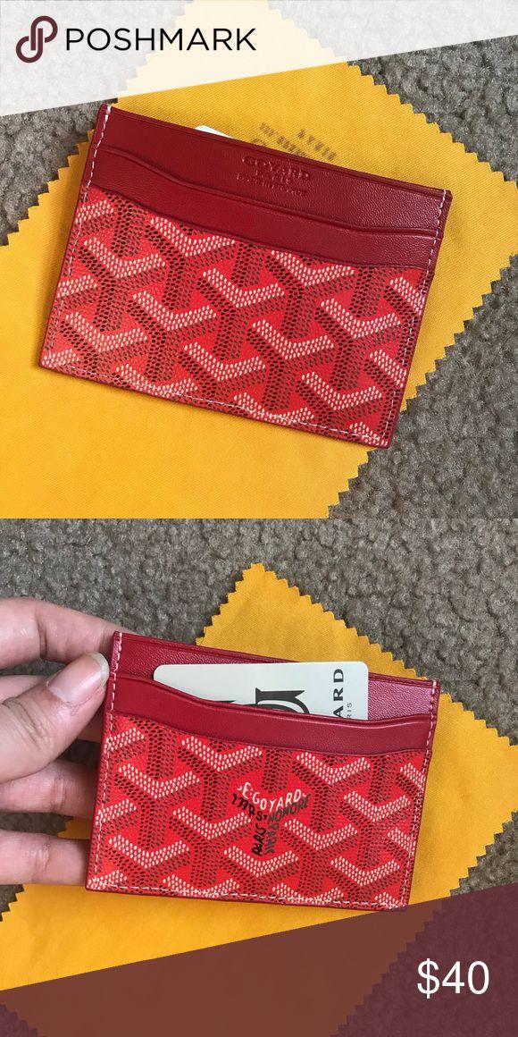 Goyard card holder Brand new, red, no box Bags Wallets