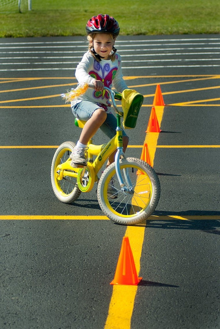 Bicycle Obstacle Course Active Kids Bike Birthday