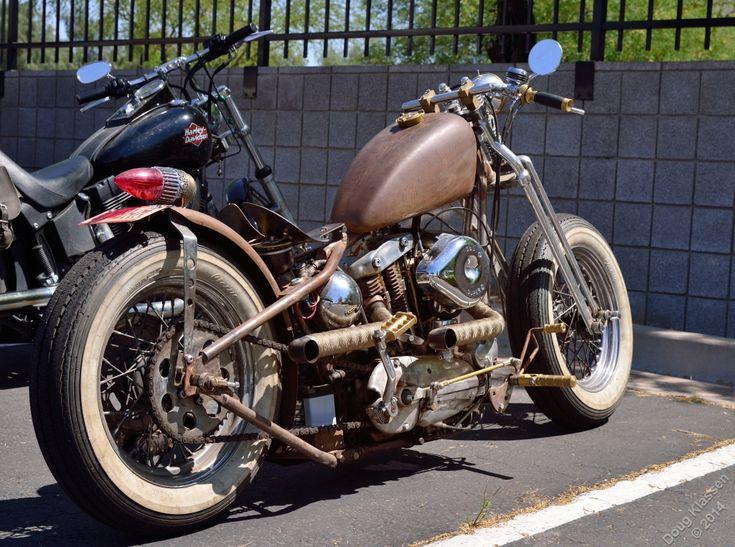 jd-kd:  Early Harley Sportster bobber by Doug Klassen