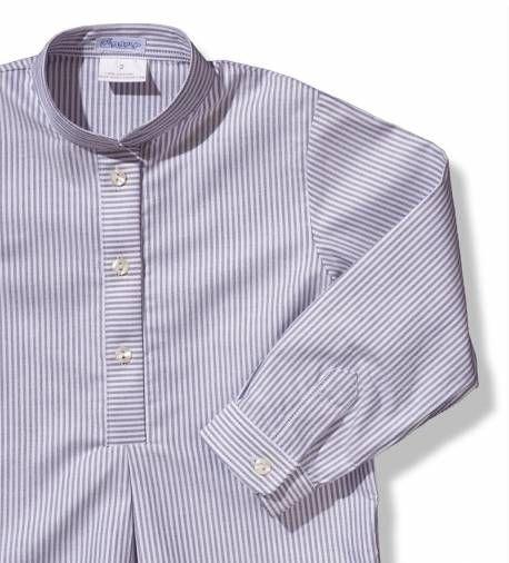 Camisa para niño a rayas grises