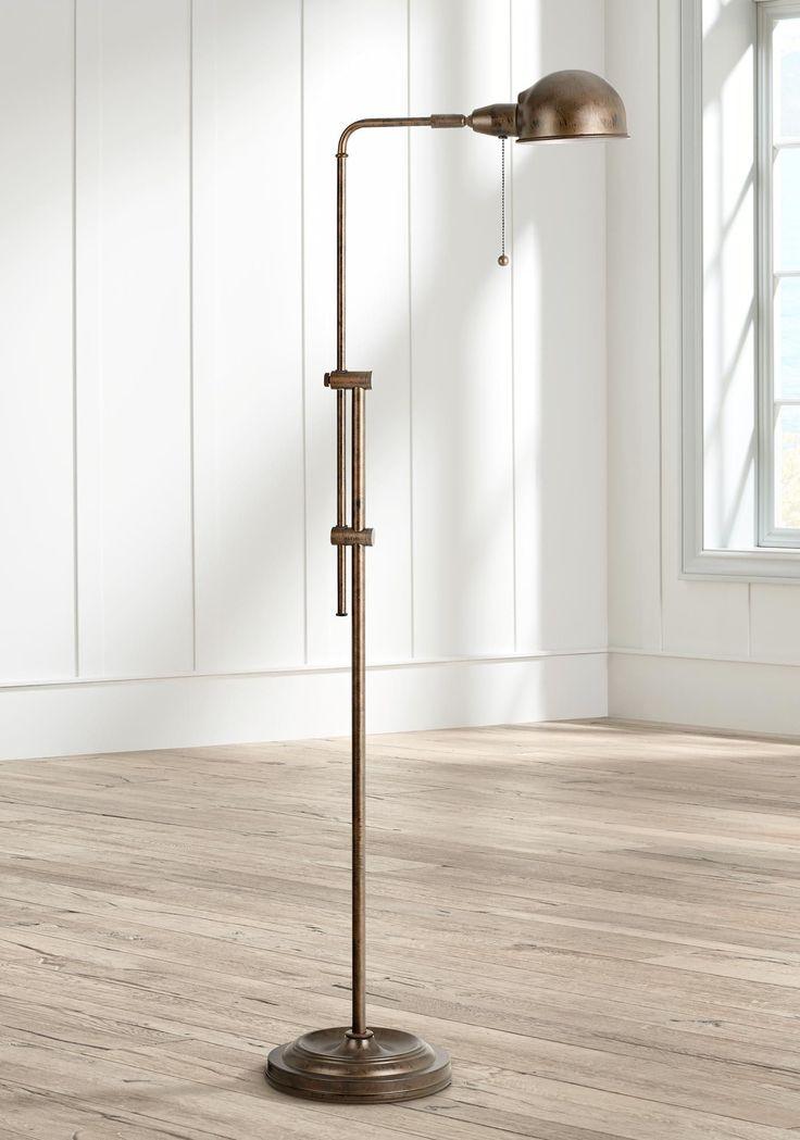 Tamber Rust Adjustable Pharmacy Floor Lampadjustable