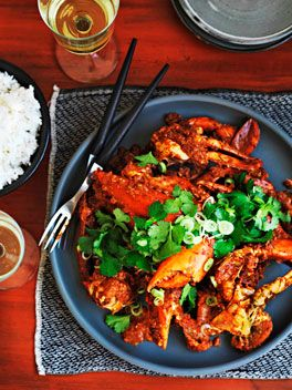 Singapore chilli crab  RECIPE ALICE STOREY PHOTOGRAPHY WILLIAM MEPPEM STYLING GERALDINE MUNOZ