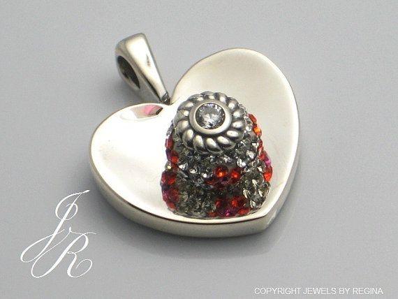374 best marcus max interchangeable bead jewelry images on heart pendant interchangeable bead jewelry by reginasdreamcreation aloadofball Choice Image