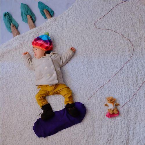 すやすや寝てる我が子をアートで飾ろう!人気の「寝相アート」が可愛い♡の画像4