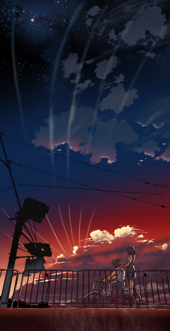 I *think* this is from Makoto Shinkai's